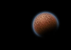 Mysterious planet in space Stock Photography