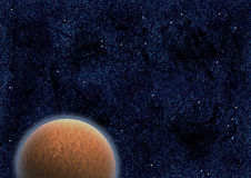Mysterious planet in space Royalty Free Stock Photography