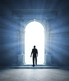 Mysterious portal. A mysterious portal - an ancient archway Royalty Free Stock Image