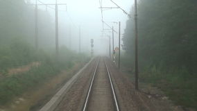 Mysterious railroad journey stock footage