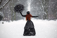 Free Mysterious Red-haired Woman In Victorian Dress Royalty Free Stock Photos - 85018508