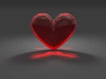 Mysterious red heart with caustic effect Stock Photos