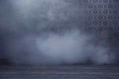Mysterious room filled with dense smoke Royalty Free Stock Images
