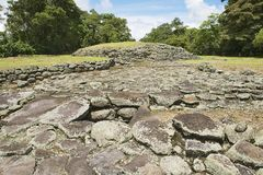 Mysterious ruins of Guayabo de Turrialba, Costa Rica. Royalty Free Stock Photos