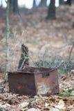 Mysterious rusty bucket Royalty Free Stock Photos
