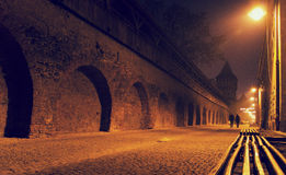 Mysterious scene in old Sibiu city Royalty Free Stock Images