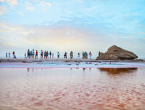 The mysterious scene in Salt Lake. Tunisia Royalty Free Stock Images