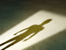 Mysterious shadow Stock Photography