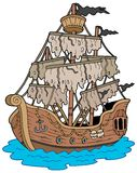 Mysterious ship royalty free illustration