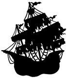 Mysterious ship silhouette Royalty Free Stock Image