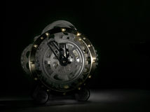 Mysterious Silver Clock Royalty Free Stock Image