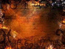 Mysterious spells background stock illustration
