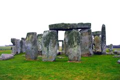 Mysterious Stonehenge in UK. Isolated over white Stock Photo