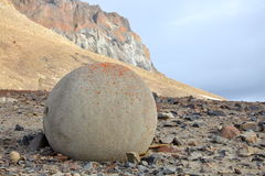 Mysterious stones of Champ Island in Arctic Royalty Free Stock Photos