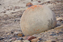 Mysterious stones of Champ Island in Arctic Royalty Free Stock Image