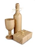 Mysterious surprise wrapped in brown paper Royalty Free Stock Photo