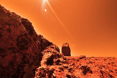 Mysterious terrestrial planet Stock Photography