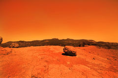 Mysterious terrestrial planet Royalty Free Stock Image