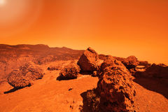 Mysterious terrestrial planet Stock Images