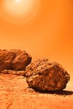 Mysterious terrestrial planet Stock Photo