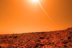 Mysterious terrestrial planet Royalty Free Stock Photo
