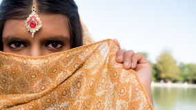 Mysterious and traditional young indian princess Royalty Free Stock Photo