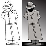 Mysterious Trenchcoat Man Royalty Free Stock Image