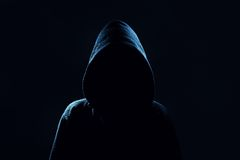 Mysterious, unknown person in the hood. Royalty Free Stock Photos
