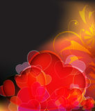 Mysterious  Valentine's day background Stock Photos