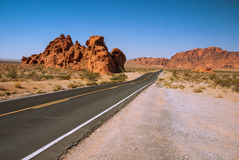 Mysterious Valley of Fire, Nevada, USA. Morning landscape in the Valley of Fire, Nevada, USA Royalty Free Stock Images