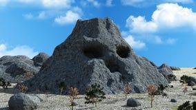 Mysterious volcano mountain