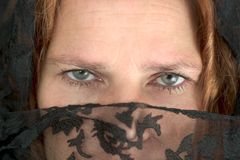 Mysterious Woman (2) royalty free stock image