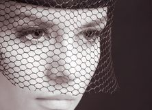 Mysterious woman stock image
