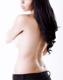 Mysterious woman from behind Stock Image