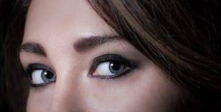 Mysterious woman makeup Stock Photo