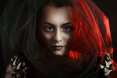 Mysterious Woman Portrait Stock Photo