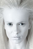 Mysterious woman. Portrait of mysterious albino woman stock image