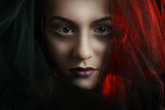 Mysterious Woman Portrait Royalty Free Stock Image