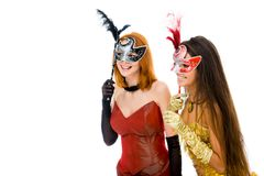 Mysterious women royalty free stock images