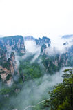 Mysterious Zhangjiajie. A World Natural Heritage in South China, Zhangjiajie is consisted of more than 3,000 quartz sandstone pillars, and many Karst caves Royalty Free Stock Photos