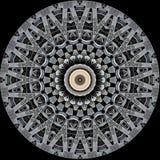 Mysteriously digital art design of filigree ornamental carved wood royalty free illustration
