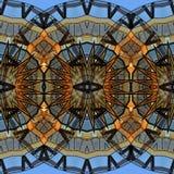 Mysteriously digital art design of interlocking circles and star. Digital art design. Pattern with architectural mysteriously interlocking circlesand stars in royalty free illustration