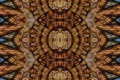 Mysteriously digital art design of interlocking circles and tria. Digital art design. Pattern with architectural mysteriously interlocking circles in different royalty free illustration