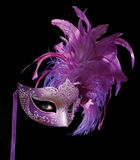 MysteriousMask. Mask plus eyes on black Royalty Free Stock Images