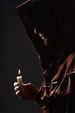 Mysteriöser katholischer Mönch Stockbilder