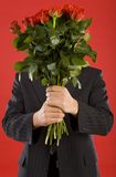 Mystery admirer Stock Image