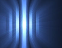Mystery blue dark light stripes flare. Mysterious bright light shining through beams. Dark and light halo stripes contrast background Stock Image