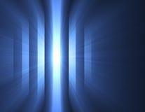 Mystery blue dark light stripes flare Stock Image