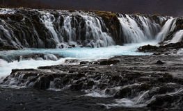 The Mystery Of The Blue Waterfall ,Bruarfoss Royalty Free Stock Photos