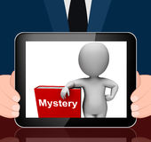 Mystery Book And Character Displays Fiction Genre Or Puzzle To S Royalty Free Stock Photos